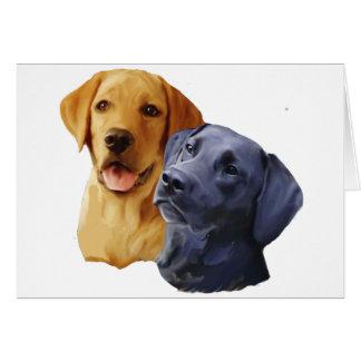 Retratos del labrador retriever tarjeta de felicitación