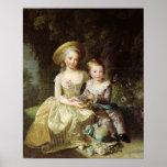 Retratos del niño de Marie-Teresa-Charlotte Póster