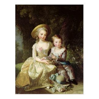 Retratos del niño de Marie-Teresa-Charlotte Postal