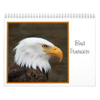 Retratos del pájaro calendarios
