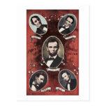 Retratos del vintage de Abraham Lincoln Postal