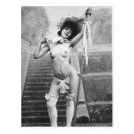 Retratos desnudos subido de tono del vintage de la postales