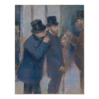 """Retratos en la bolsa de acción de Edgar Degas Invitación 4.25"""" X 5.5"""""""