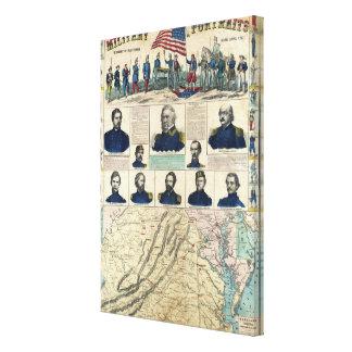 Retratos militares impresiones en lienzo estiradas