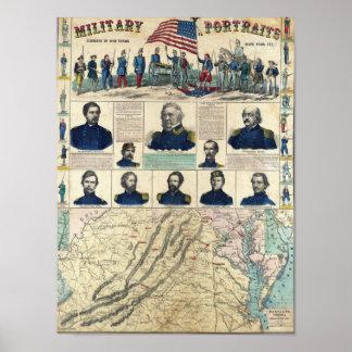 Retratos militares impresiones