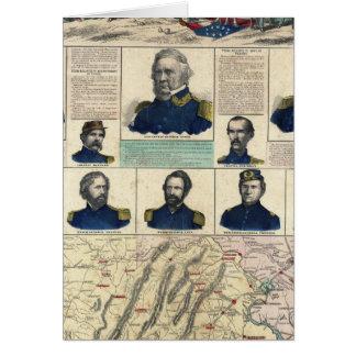 Retratos militares tarjeta de felicitación