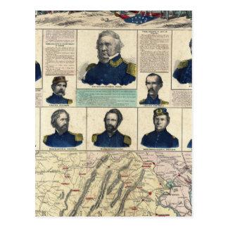 Retratos militares tarjetas postales