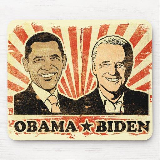 Retratos Mousepad de Obama Biden