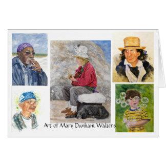 Retratos Notecards de la acuarela