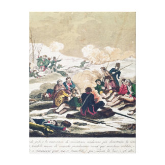 Retreat from Moscow, engraved by J. Hassell Canvas Print