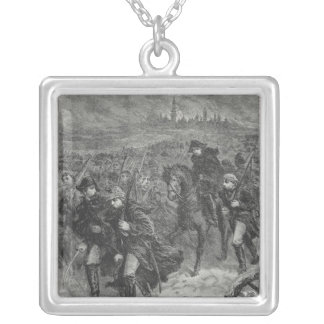 Retreat from Moscow Silver Plated Necklace
