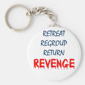 Retreat Regroup Return Revenge Basic Round Button Keychain
