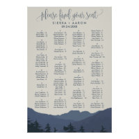 Retreat to the Mountains Alphabet Seating Chart