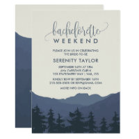 Retreat to the Mountains Bachelorette Weekend Invitation