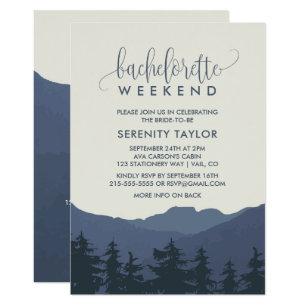 retreat to the mountains bachelorette weekend invitation