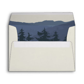 Retreat to the Mountains Wedding Invitation Envelope