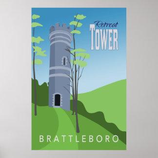 Retreat Tower Retro Poster