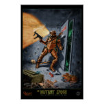 Retreating Excavator :: The Mutant Epoch Posters