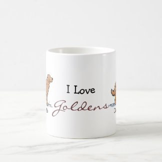 Retreiver de oro - rojo taza de café