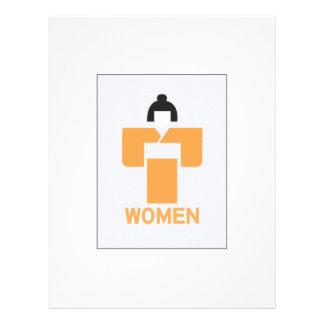 Retrete de las mujeres, muestra japonesa membrete a diseño