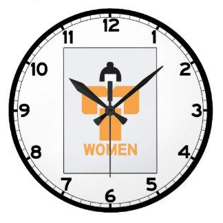 Retrete de las mujeres, muestra japonesa reloj redondo grande