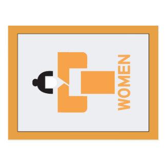 Retrete de las mujeres, muestra japonesa tarjeta postal