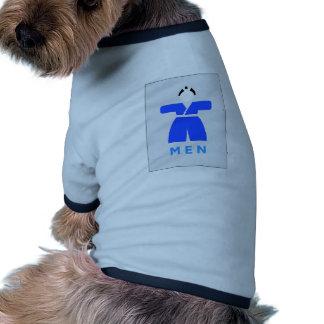 Retrete de los hombres, muestra japonesa camiseta con mangas para perro