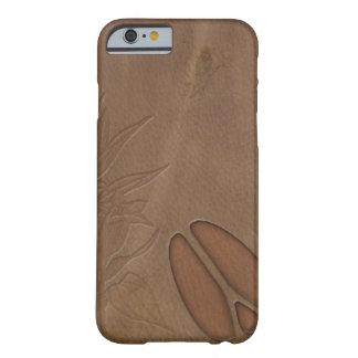 retrete masculino del cuero de la huella de los funda barely there iPhone 6