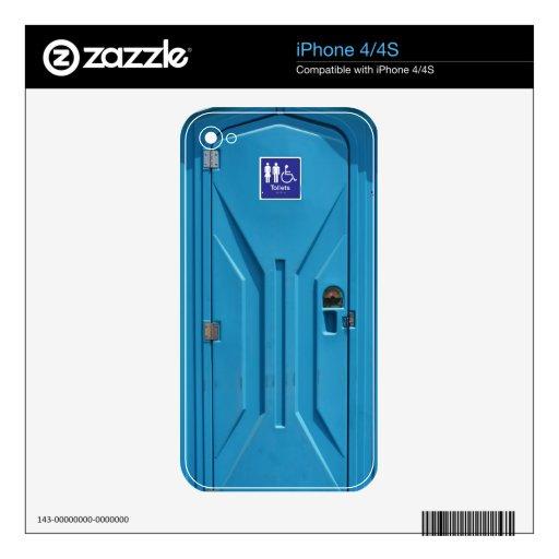 Retrete portátil público divertido skins para eliPhone 4S