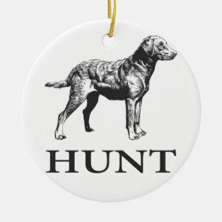 Retriever Hunt Ceramic Ornament