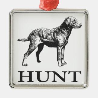 Retriever Hunt Metal Ornament