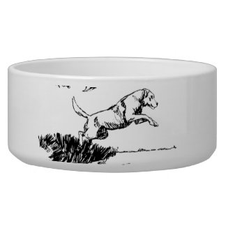 Retriever Hunting Scene Bowl