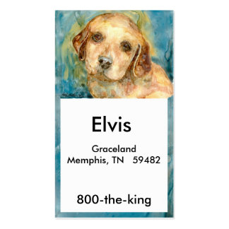 Retriever Puppy Biz Card Double-Sided Standard Business Cards (Pack Of 100)