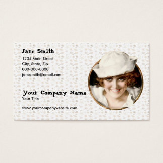 Retro 1920s Sailor Girl Business Card