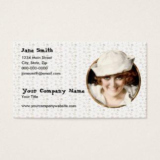Retro 1920s Sailor Girl Business Card