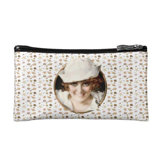Retro 1920s Sailor Girl Makeup Bag
