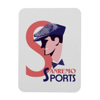 Retro 1920s style Italian men's sports fashion ad Magnet