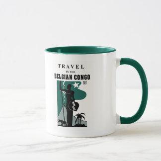 Retro 1930s African style Belgian Congo travel Mug