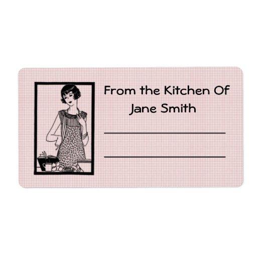 Retro 1930s Kitchen Label