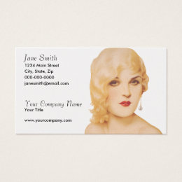 Retro 1930s Pinup Business Card
