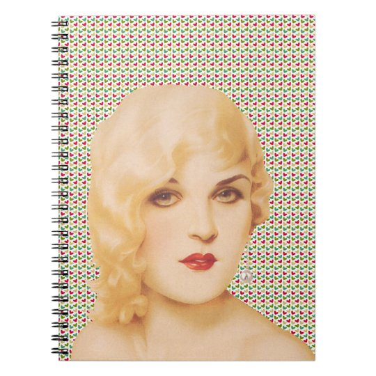 Retro 1930s Pinup Love Notebook