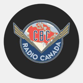 Retro 1940-1958 classic round sticker