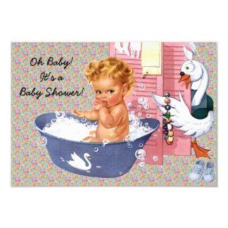 Retro 1940s Baby Boy Shower V2 Card