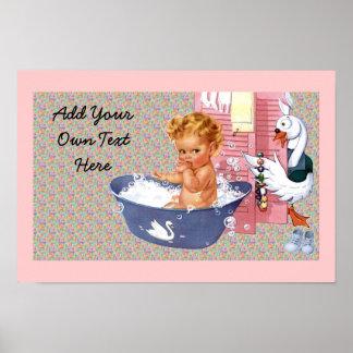 Retro 1940s Baby Poster