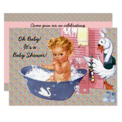 Retro 1940s Baby Shower V2 Invitation