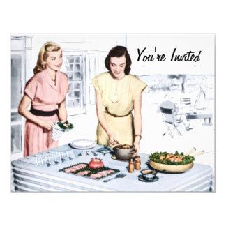Retro 1940s BBQ Card