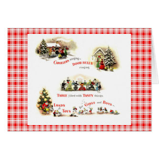 Retro 1940s Christmas Greeting Card
