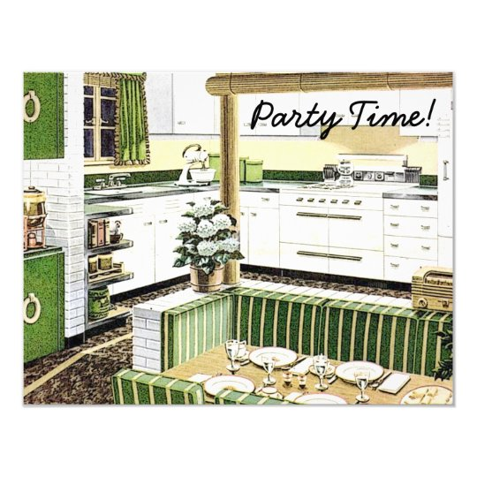 Retro 1940s Dinner Party Card