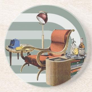 Retro 1940s Furniture Sandstone Coaster