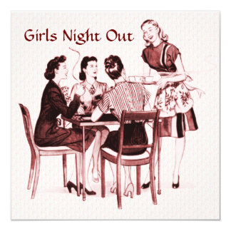 Retro 1940s Girls Night Out Card